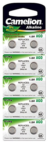 10 x 1.55V Button Coin Cell Watch Battery Batteries AG0 LR521 SR521 LR63 SR63 379 from Live-wire-direct
