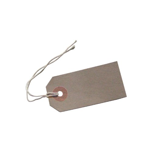 100 Reinforced Brown Buff Luggage Tags Labels with String Strung Suitcase Ties 96 x 48mm from Live-wire-direct