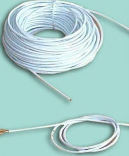 Net Curtain Wire Various Lengths with Screw Hooks and Eyes White Cable Window (10m) from Live-wire-direct