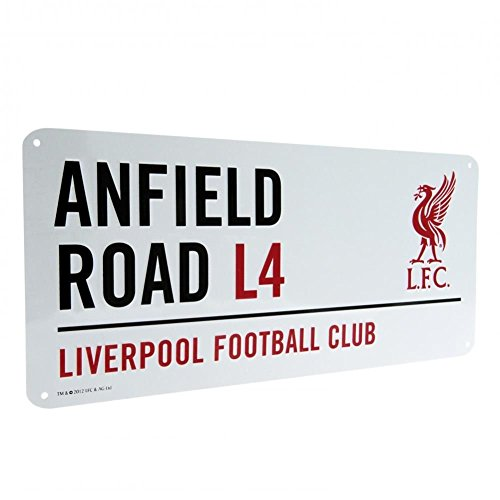 Liverpool Official Anfield Road L4 Metal Street Sign - Multi-Colour from Liverpool F.C.