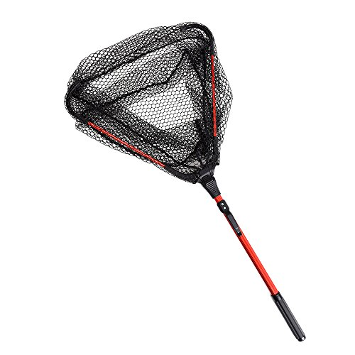 Lixada Fly Fishing Triangle Brail Landing Net Portable Foldable Lightweight Net Nylon Fishing Net Aluminum Alloy Frame from Lixada