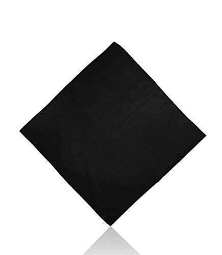 Plain Cotton Bandanas by Lizzy® (Black) from Lizzy