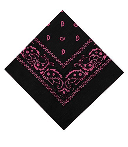 Paisley Bandanas by Lizzy® (Black & Pink) from Lizzy