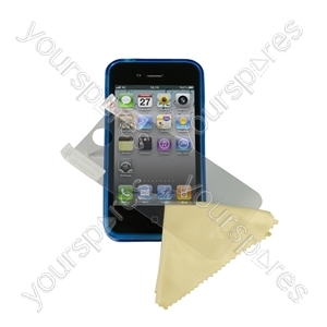 iPhone 4 - Deluxe Tpu Case-trans Blue from Logic3