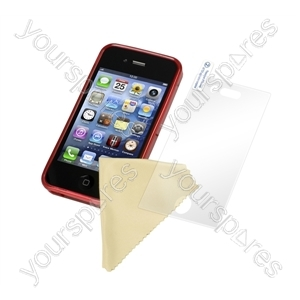 iPhone 4 - Deluxe Tpu Case -trans Red from Logic3