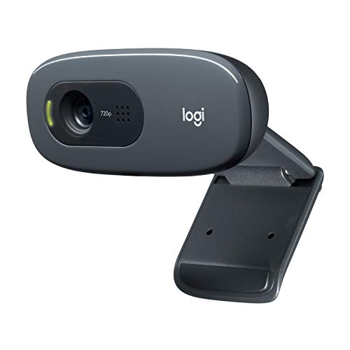 Logitech C270 HD Webcam for Wide Screen Video Calling, Gaming and Live Streaming with Noise Cancelling Mic and Auto Light Correction, Ideal for Skype, Twitch and YouTube from Logitech