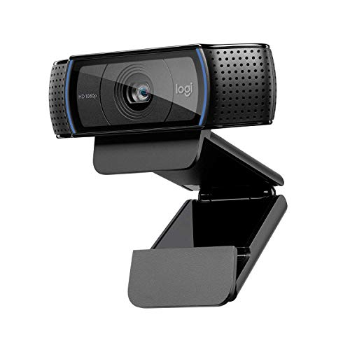 Logitech C920 HD Pro Webcam - Full HD 1080p Video Calling and Recording with Dual Stereo Audio Mics - Black from Logitech