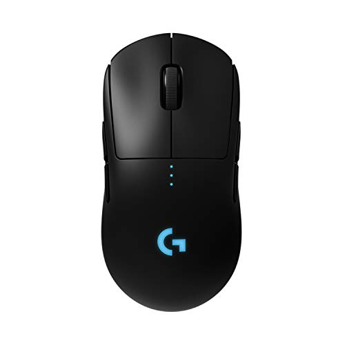 Logitech G PRO Wireless Gaming Mouse, HERO 16K Sensor, 16000 DPI, RGB, Ultra Lightweight, 4 - 8 Programmable Buttons, Long Battery Life, On-Board Memory, Built for esport, PC/Mac - Black (German Pack) from Logitech