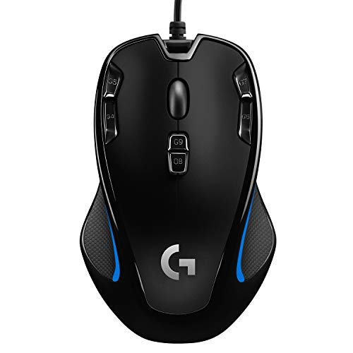 Logitech G300s Wired Gaming Mouse, 2,500 DPI, RGB, Lightweight, 9 Programmable Controls, On-Board Memory, Compatible with PC / Mac - Black from Logitech