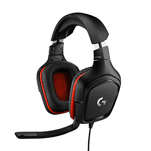 Logitech G332 Stereo Gaming Headset 6 mm Flip-to-Mute Mic for PlayStation 4, Xbox One and Nintendo Switch from Logitech
