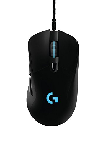 Logitech G403 Wired Optical Gaming Mouse with 12,000 DPI, 16.8 Million Colours for PC, MAC, USB - Black from Logitech