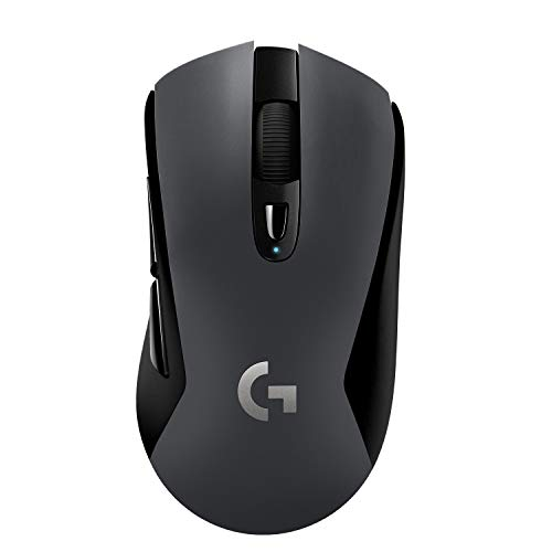 Logitech G603 LIGHTSPEED Wireless Gaming Mouse, HERO Sensor, 12000 DPI, Lightweight, 6 Programmable Buttons, 500h Battery Life, On-Board Memory, PC / Mac - Black from Logitech