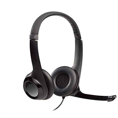 Logitech H390 Wired Headset, Stereo Headphones with Noise-Cancelling Microphone, USB, In-Line Controls, PC/Mac/Laptop - Black from Logitech