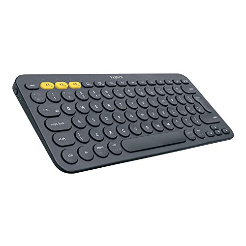 Logitech K380 Wireless Multi-Device Keyboard for Windows, Apple iOS, Apple TV android or Chrome, Bluetooth, Compact Space-Saving Design, PC/Mac/Laptop/Smartphone/Tablet, QWERTY Italian Layout - Black from Logitech