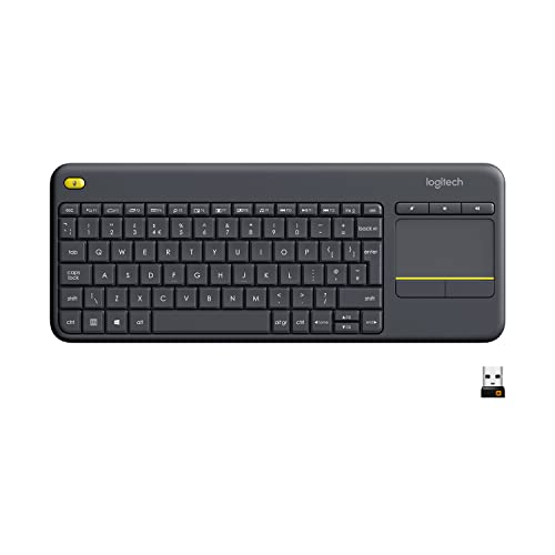 Logitech K400 Plus Wireless Touch Keyboard for Windows, Android and Chrome - QWERTY, UK Layout, Black from Logitech