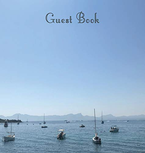 Guest Book, Guests Comments, Visitors Book, Vacation Home Guest Book, Beach House Guest Book, Comments Book, Visitor Book, Colourful Guest Book, ... Holiday Guest Book, Sea and Boats (Hardback) from Lollys Publishing