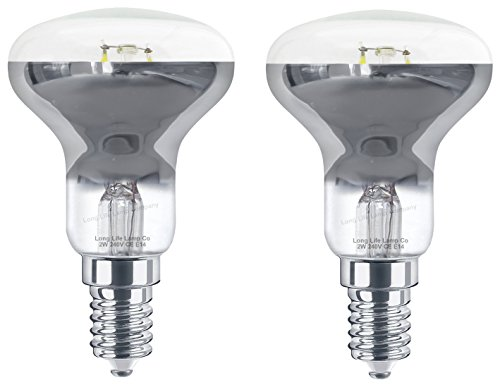 2 x 2w LED R50 Light Bulb E14 Cool White Replacement for Halogen Reflector Spots from Long Life Lamp Company