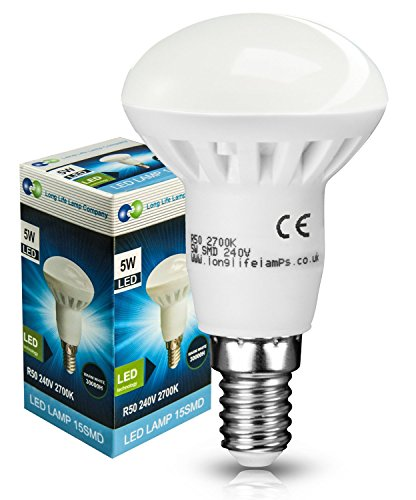 2 x R50 LED 5W E14 Replacment for Reflector R50 LED Light Bulb Energy saving from Long Life Lamp Company