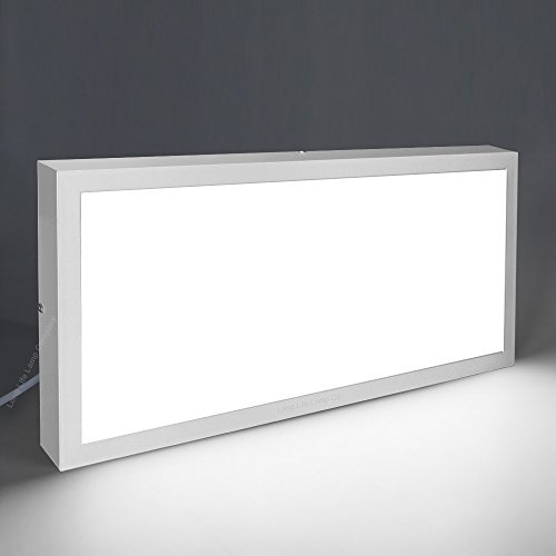 30w LED Panel 300 x 600 Surface Mount Ceiling Down Light Cool White 7000K Super Bright includes Driver from Long Life Lamp Company