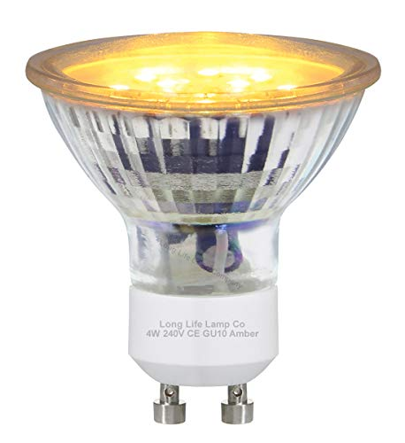 3w Yellow GU10 LED Colour Light Bulb from Long Life Lamp Company