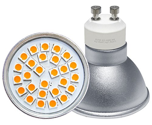 5 x High Power 5w LED GU10 Light Bulbs Warm White 27SMD Technology Energy Saver 450 Lumens from Long Life Lamp Company