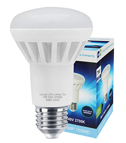 5 x 7w R63 LED E27 Replacement for Reflector R63 Light Bulb Energy Saving 2700k Warm White from Long Life Lamp Company