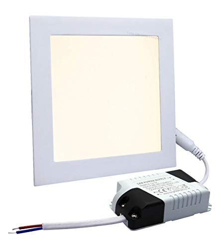 6W LED Square Recessed Ceiling Flat Panel Down Light Ultra Slim Lamp Warm White 3000k Super Bright from Long Life Lamp Company