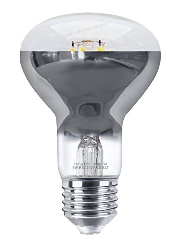 6w LED R63 Reflector Light Bulb E27 Cool White Replacement For Halogen Spots from Long Life Lamp Company