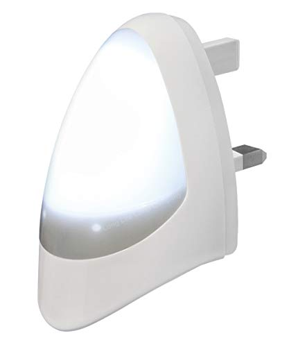 Automatic LED Night Light Dusk 2 Dawn LED Sensitive, White, Plug in from Long Life Lamp Company