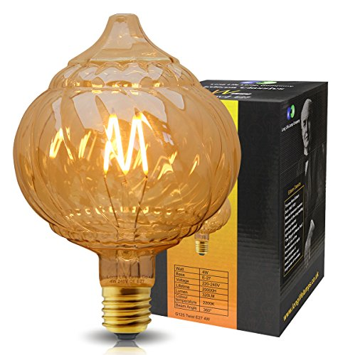 Extravagant Dome Vintage LED 4w Filament Light Bulb Swirling Smoked Glass E27 Stunning Look from Long Life Lamp Company