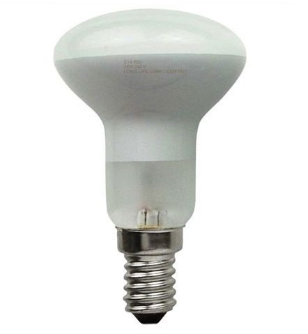 Long Life Lamp Company E14 Edison SES 10 R50 Reflector Halogen Energy Saving 42 Watt Equivalent 60 Watt Dimmable Light Bulbs, Pack of 10 from Long Life Lamp Company
