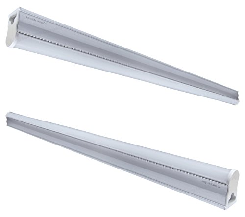 T5 LED Ultra Slim High Output Light Fitting 9w 5000k Cool White 60cm Energy Saving Replacement for Fluorescent Lighting from Long Life Lamp Company