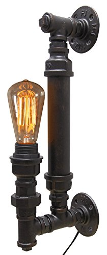Vintage Industrial Rustic Copper Steampunk Wall Light Up or Down Lighter Fitting B1002 from Long Life Lamp Company