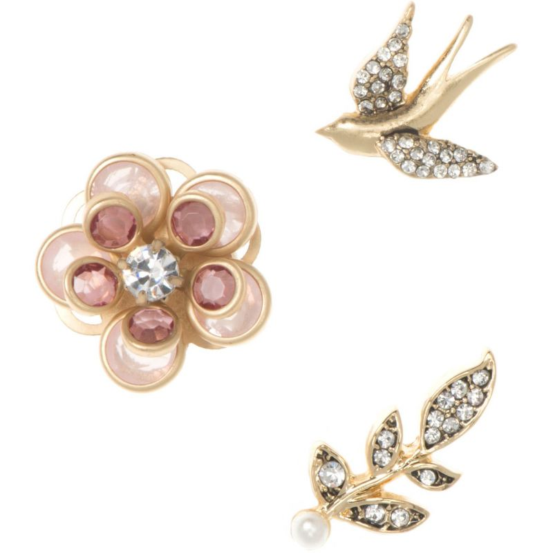 Ladies Lonna And Lilly Rose Gold Plated Earrings and Brooch Set from Lonna And Lilly