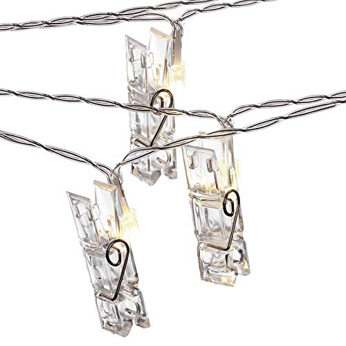 Looyat LED Photo Clip String Lights - 40 Photo Clips 5M Battery Powered LED Picture Lights for Decoration Hanging Photo, Notes, Artwork from Looyat