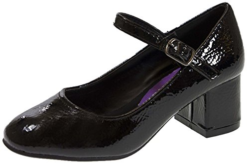 Lora Dora Girls Faux Leather Party Shoes Black UK 12 from Lora Dora