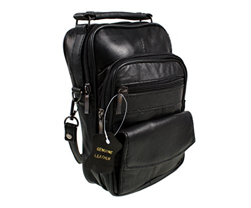 Lorenz Black Real Leather Shoulder Bag from Lorenz
