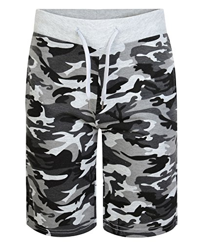LotMart 3758 Camo Grey 5-6 Y Kids Camouflage Shorts from LOTMART