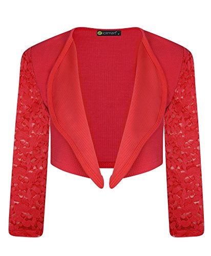 3759 Red 5-6 Y Girls Lace Bolero Shrug & FREE GIFT Lotmart promotional pen with every parcel from LotMart