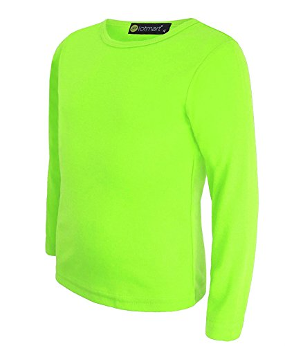 LotMart 2726 Neon Yellow 5-6 Y Kids Basic Top from LotMart