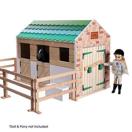 Lottie Playset Stable, made with wood and child friendly colours to play dolls | Best fun gift for empowering kids ages 3 & up from Lottie