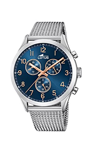 Lotus Mens Chronograph Quartz Watch with Stainless Steel Strap 18637/3 from Lotus