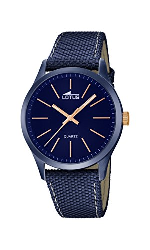 Lotus Men's Quartz Watch with Blue Dial Analogue Display and Blue Leather Strap 18166/2 from Lotus