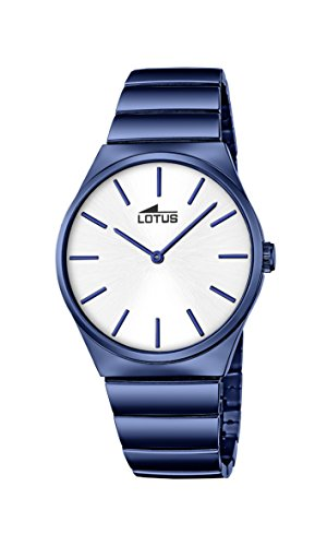 Lotus Men's Quartz Watch with Silver Dial Analogue Display and Blue Stainless Steel Plated Bracelet 18279/1 from Lotus