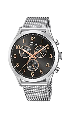 Lotus Mens Chronograph Quartz Watch with Stainless Steel Strap 18637/4 from Lotus