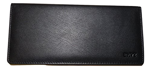 EMVY Leather Genuine Leather Cheque Book Cover Holder in Colours Black or Purple! (Black) from Love EMVY