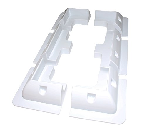6 Piece Solar Panel Mounting Bracket White Rectangle Set Kit Adhesive Bond For Caravans, Motorhomes, Boats & Any Flat Surface from Lowenergie