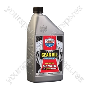 SAE Fully Synthetic 75W140 V-Twin Gear Oil 946ml from Lucas Oil