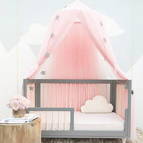 Luerme Bed Canopy Round Dome Mosquito Net Princess Bed Play Tent Room Decoration for Baby Kids (Pink) from Luerme