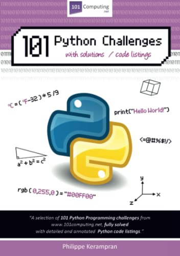 101 Python Challenges with Solutions / Code Listings from lulu.com